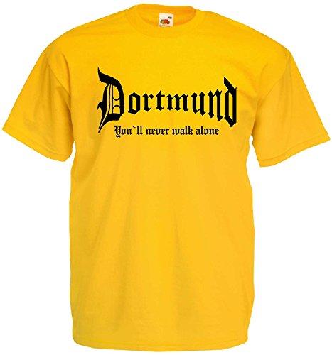03d624fabcc78 world-of-shirt Herren T-Shirt Dortmund You never walk alone