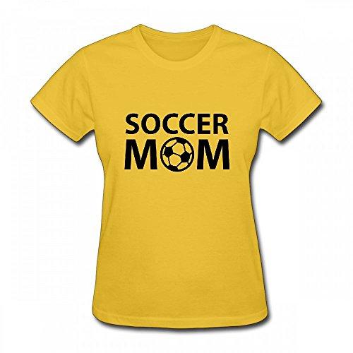 qingdaodeyangguo T Shirt For Women - Design Soccer Mom Shirt Yellow