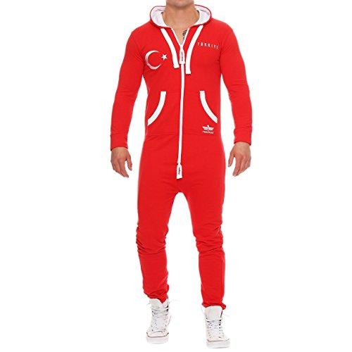 Jumpsuit Overall Onesie Fußball Türkei L (Fußball Kostüme Für Männer)
