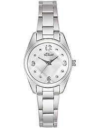 s.Oliver Damen-Armbanduhr Analog Quarz SO-15068-MQR
