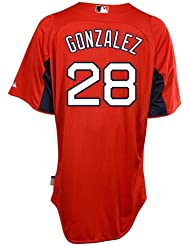 Adrian Gonzalez Boston Red Sox Majestic Authentic Cool Base On Field Batting Practice Jersey