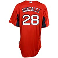 Adrian Gonzalez Boston Red Sox Majestic Authentic Cool Base On Field Batting Practice Jersey (Gonzalez Jersey)