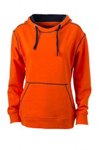James & Nicholson Damen Sweatshirt Kapuzensweatshirt Ladies' Lifestyle Hoody orange (dark- Preisvergleich