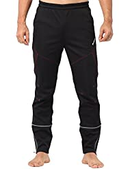 4ucycling Mens Windstopper Casual y pantalones deportivos desplumaron Multi Updated Black&Red Talla:WEIGHT:188Lbs above HEIGHT:6.1ft above(3XL)