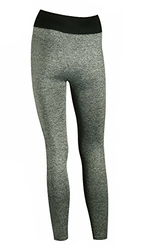 My Socks - Leggings sportivi -  donna Plain Grey With Rainbow Writing