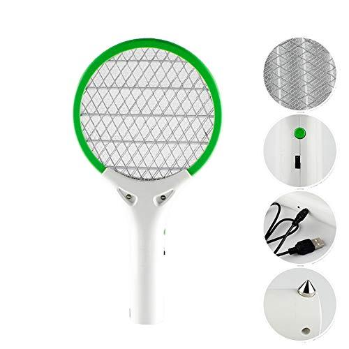 Chlry Klein Elektrisch Fliegenklatsche insektenvernichter, für das Auto, wiederaufladbar, Elektroschockentwurf verhindern, Fliegenfänger Mückenklatsche Mückenkiller