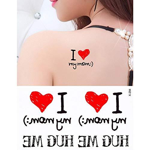 adgkitb 5pcs Tattoo Sticker Herz Baum Arm Schulter Art Weihnachten Schneeflocke Liebhaber Tattoo 10.5x6cm