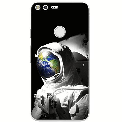 Astronautenanzug & Spiegelbild der Erde Hartschalenhülle Telefonhülle zum Aufstecken für Google Pixel XL