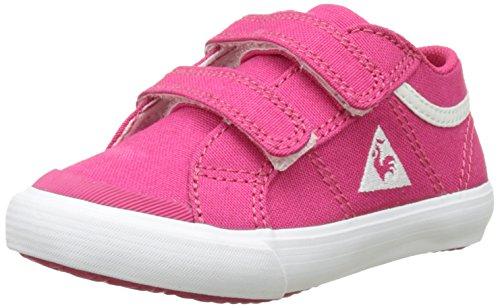 Le coq sportif saint gaetan inf cvs, scarpe da ginnastica basse unisex – bambini, rosa (rose red/optical whi), 27 eu