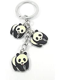 Key Era Walking Kung Fu Panda Designer Black & White Colour Metal Keychain & Keyring For Bikes, Cars, Bags, Home...