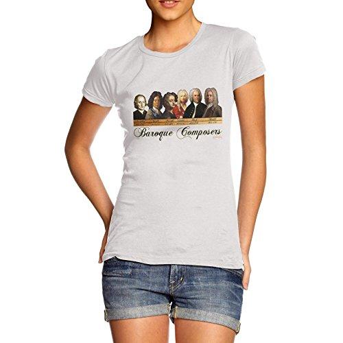 TWISTED ENVY Damen T-Shirt Gr. X-Large, Weiß - Weiß -