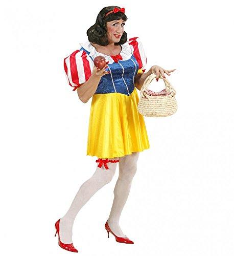 Lustiges Schneewittchen Kostüm für Herren Gr. XL Drag Queen JGA Kleid Junggesellenabschied (Günstige Halloween-kostüme Lustige Herren)
