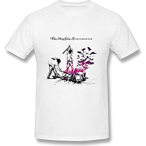 Fly&Tian Men's Three Days Grace Life Starts Now T-shirt