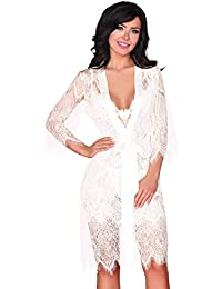 b41d74b9c7e7 Livia Corsetti Fashion Dressing Gown and Nightdress Nightshirt Womens Sexy  Set Lingerie White Lace Reve Blanc