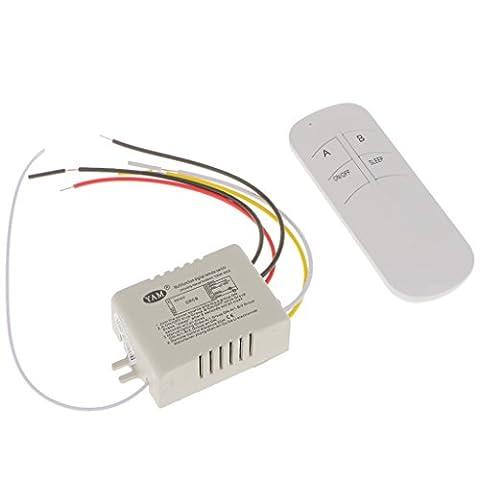 MagiDeal 220V 1/2/3/4 Voies Wireless Lampe De Lumière RF Commande à Distance Commutateur Receiver + Emitter sans Fil - un voie unique
