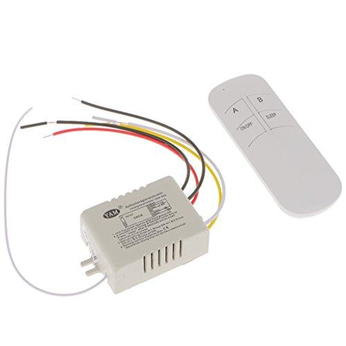 MagiDeal 220V 2- Kanal Funk Lichtschalter Wandschalter Lampen Licht HF-Fernsteuerungsschalter Empfänger + Emitter -