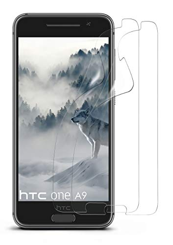 moex 2X HTC One A9 | Schutzfolie Klar Bildschirm Schutz [Crystal-Clear] Screen Protector Display Handy-Folie Dünn Bildschirmschutz-Folie für HTC One A9 Bildschirmfolie