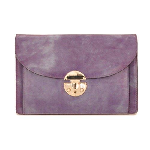 Pratesi Tullia d'Aragona sac à main - R203/D Radica (Crème) Violet