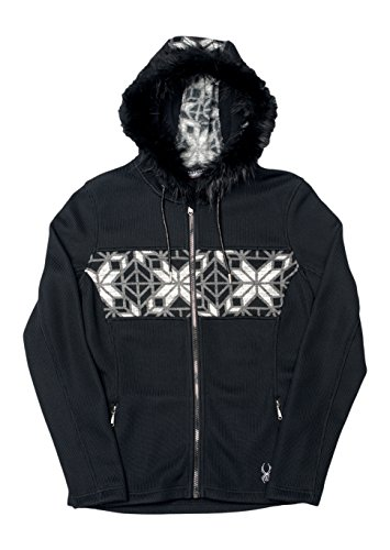 Spyder Damen Strick Fleece Soiree Hoody Faux Fur, Mehrfarbig, M, 158252001333P