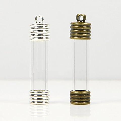 Straight Handmade Glass Pendant Wishing Creative Jewelry Accessorie Empty Bottle 2 color (2, Copper)