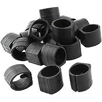 Sourcingmap-Home Silla Tubo Pie Almohadillas de abrazadera Suelo se desliza en forma de U Caps 20pcs Negro