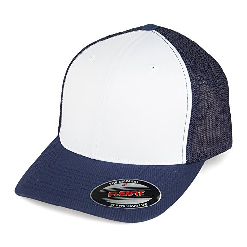 Village Hats Casquette Trucker White Front Bleu Marine-Blanc Flexfit - Bleu Marine-Blanc - Taille Unique