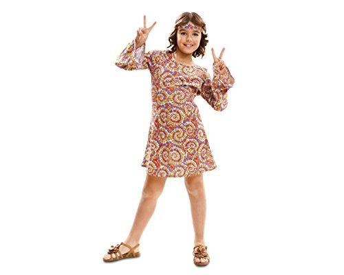 Imagen de my other me  disfraz de hippie psicodélica para niña, 7 9 años viving costumes 201976