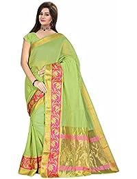 Royal Export Women's Cotton Silk Saree (Green)