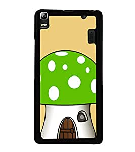 Green Mushroom 2D Hard Polycarbonate Designer Back Case Cover for Lenovo A7000 :: Lenovo A7000 Plus :: Lenovo K3 Note