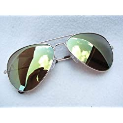 ALPLAND Pilotenbrille - Sonnenbrille - GOLD - VOLL VERSPIEGELT inkl. SOFTBAG
