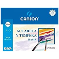 Canson 406347 - Papel para acuarela, 6 hojas
