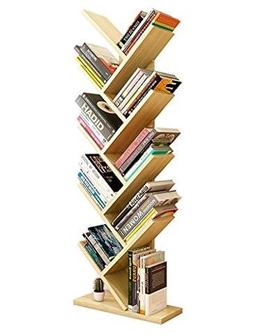 SUBBYE Storage shelves Personality Bedroom Children's Bookshelves Tree Shape Floor Standing Bookshelf Simple Modern Living Room Bookshelves Multi-color Optional ( Color : White maple color