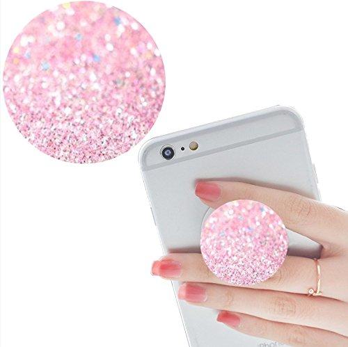 Smart Phone Expansion Ständer und Grip, Multifunktions Pop Handy Halter Halterung Universal Finger mit Anti-Fall Telefon Air Sac Smartphone socket Griff-Weiß pink Rosa Marmor (Günstige Iphone 4 Fälle Für Jungs)