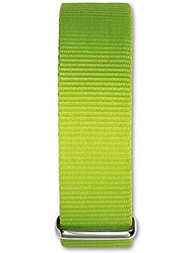 Bruno Banani Damen Herren Uhrenarmband - Textil/Nylon-Armband grün ohne UBRACCGR