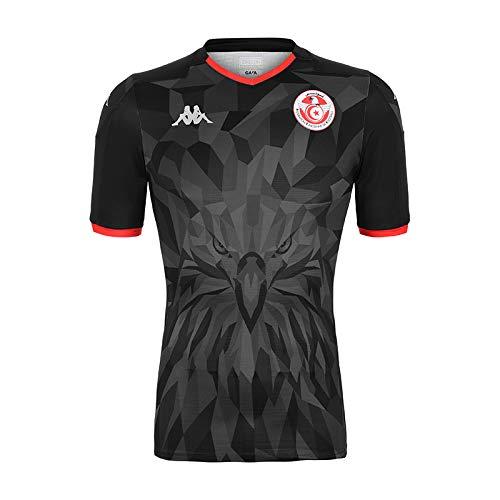 Kappa kombat third tunisia maglietta ufficiale da gioco, unisex adulto, unisex adulto, 304ug20, nero, 2xl