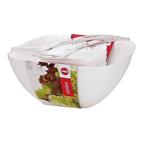 Emsa Vienna Salat-Set 6-teilig, Weiß, Schüssel-Set, Schälchen, Schüssel, 512766