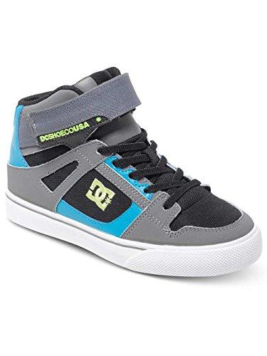 DC Shoes Spartan High Ev, Chaussures Premiers pas garçon Noir - Black/Armor/Turquoise