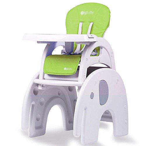 Brisk- Booster De Siège De Conversion Convertible De Bureau De Bébé De Chaise Haute De 3 dans 1 (Couleur : Elephant Section (Green))