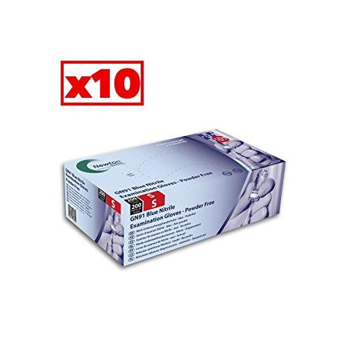 Guanti in nitrile blu Light HandSafe–Cartone Di 10confezioni da 200–AQL–gn91_ 10