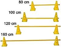 agility sport pour chiens - haie de coordination, 23 cm, jalon: 80 cm, jaune - 2x MZK23y 1x 80y