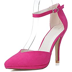 Sarahbridal , Damen Pumps Pink Fuchsia
