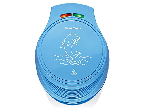 Motiv Waffeleisen Tiere mit Seepferdchen Delfin und Krebs Kinder Wafflemaker Blau - 4