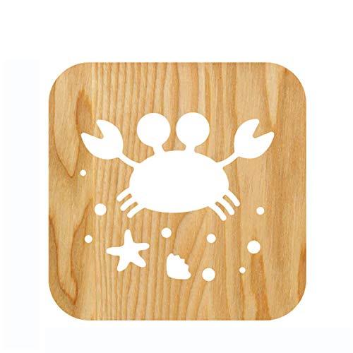 WENYC Petit Crabe Creative Products Nouvel éclairage de Nuit étrange USB LED 3D