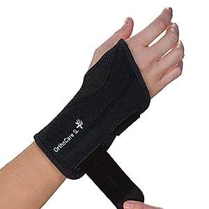 OrthoCare S- Leichte Handgelenkbandage Einstellbar lindert Schmerzen und Taubheit aufgrund des Sindrome des Carpal Tunnel, Schmerzen Handgelenk, Verstauchungen. Glichen Gebrauch und Abend