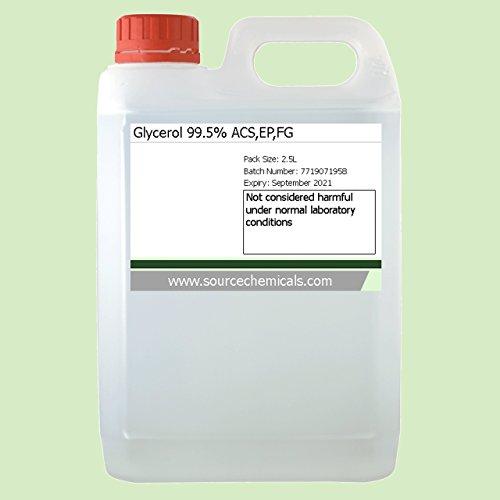 Glycerol (Glycerine) Vegetable Kosher Food / Pharma Grade 2.5 Litre (2.5L) Including Delivery