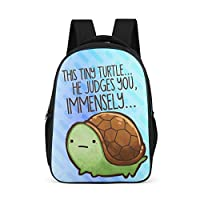 Born for-Anime Anime Printing Backpack Leisure - Cute Water Bottle Pockets School Backpack Tortoise Printed School Bag Laptop Use for Students Grey OneSize