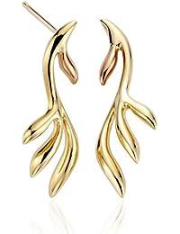 Clogau Women 9ct (375) 2 Colour Gold Stud Earrings  TLEDE2