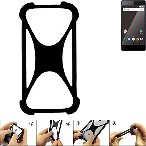 K-S-Trade Handyhülle für Blaupunkt SL 01 Schutz Hülle Silikon Bumper Cover Case Silikoncase TPU Softcase Schutzhülle Smartphone Stoßschutz, schwarz (1x)