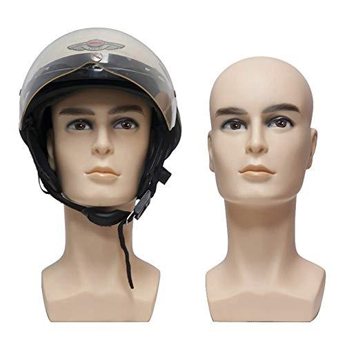 MTPL groß Männlich Mannequin Kopf Dauerhaft PVC Perücke, Hut, Sonnenbrille Anzeige
