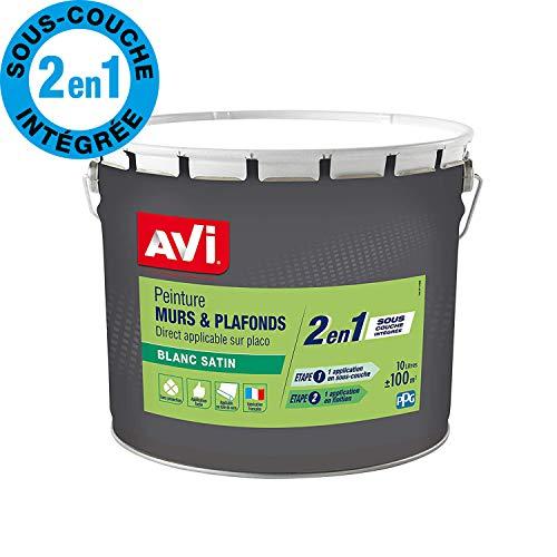AVI Peinture Murs et Plafonds  - Satin - 10 L